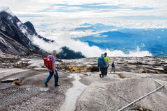People Climbing Kinabalu mount Royalty Free Stock Photo