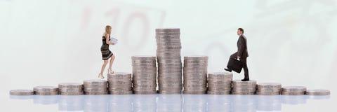 People climbing money Stock Photography