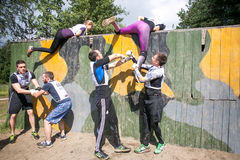 People climbing during the sport military competition game Royalty Free Stock Photos