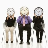 People with clock faces Stock Photography
