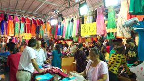 People in clothing store at Little Indian market stock video