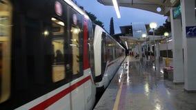 People, clouds,light, colors,Izmir city,turkey. Izmir city, people traveling subway,  turkey stock footage