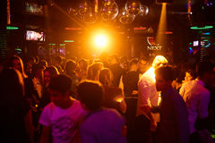 People in the club. Many people in the club laughing at a nightclub Royalty Free Stock Photography