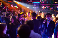 People in the club. Many people in the club laughing at a nightclub Royalty Free Stock Images