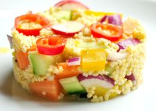 Vegan salad : millet dish with vegetables Royalty Free Stock Image