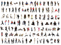People collage. Collage of isolated people over white background Stock Photos
