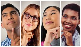 People collage portrait Royalty Free Stock Images