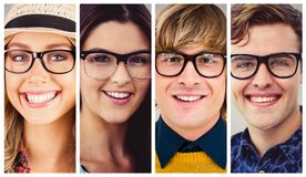 People collage portrait Royalty Free Stock Image