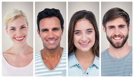 People collage portrait Royalty Free Stock Photos