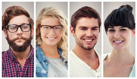People collage portrait Stock Image