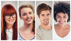 People collage portrait Stock Images