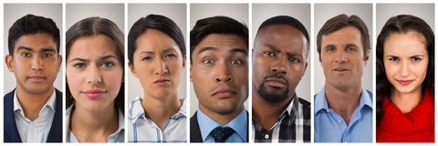 People collage portrait 7 wide Stock Photography