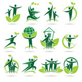 People collection ecology icons and elements Royalty Free Stock Images