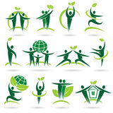 People collection ecology icons and elements Royalty Free Stock Image