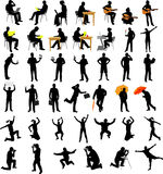 People collection silhouettes. Set of people collection silhouettes - vector Stock Photo