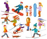 People collection (Winter) Stock Photo
