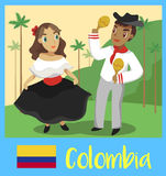 People of Colombia stock illustration
