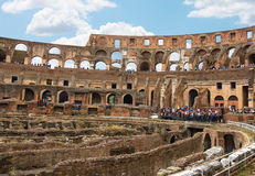 People in the Colosseum in Rome, Italy Stock Image