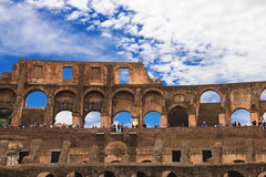 People in the Colosseum in Rome, Italy Royalty Free Stock Photos