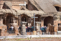 People in the Colosseum in Rome, Italy Royalty Free Stock Photography