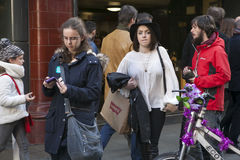 People come out of the metro Covent Garden and go on shopping Royalty Free Stock Image