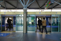 People come to the train at Tokyo station, Japan Stock Photography