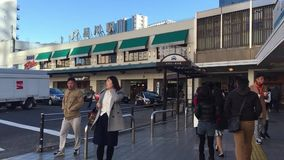 People coming to the JR station in Maibara, Japan.  stock video