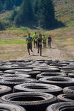 People coming up on some tires Royalty Free Stock Photography