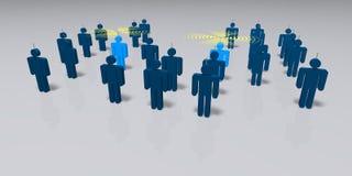 People communicating vector illustration