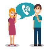 People communicating concept icon. Illustration design Royalty Free Stock Photo