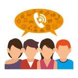 People communicating concept icon. Illustration design stock illustration