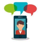 People communicating concept icon. Illustration design royalty free illustration