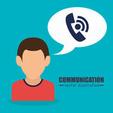 People communicating concept icon. Illustration design Stock Images