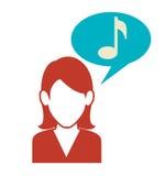People communicating concept icon. Illustration design Stock Photos