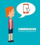 People communicating concept icon. Illustration design Stock Photo