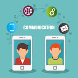 People communicating concept icon Stock Photo