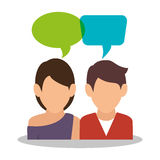 People communicating concept icon Royalty Free Stock Image