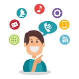 People communicating concept icon Royalty Free Stock Photos