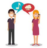 People communicating concept icon Royalty Free Stock Photo