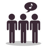 People communicating concept icon. Illustration design Royalty Free Stock Images