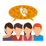 People communicating concept icon. Illustration design Stock Image