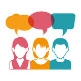 People communicating concept icon Royalty Free Stock Photography