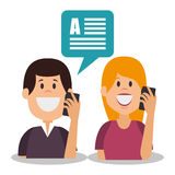 People communicating concept icon. Illustration design Royalty Free Stock Photos