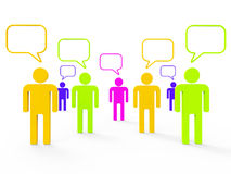 People Communicating Indicates Computer Network And Communicate. People Communicating Showing Computer Network And Together Royalty Free Stock Image