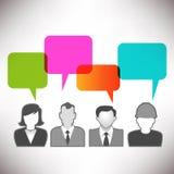 People Communicating via Social Media Royalty Free Stock Photos