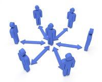 People Communication. Blue 3d render Stock Image