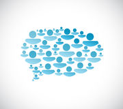 People communication cloud concept illustration Stock Photography