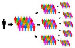 People communication royalty free illustration