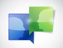 People communication illustration design Royalty Free Stock Images