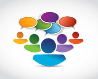 People communication and message bubbles stock illustration